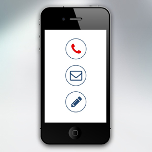 A Phone with contact Icons